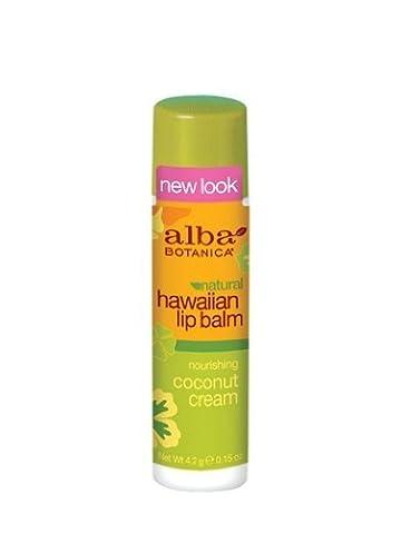 Alba Botanica Nourishing Coconut Cream Hawaiian Lip Balm, 0.15 Ounce Tubes by Alba Botanica