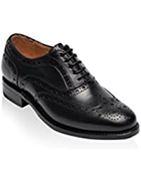 British Passport Zapatos Oxford Wing Cup Negro EU 36