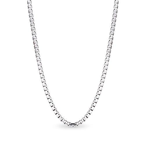 T400 Jewelers 925 Sterling Silber 1.5mm Box Kette italienische Halskette, 50cm
