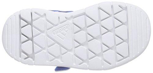 adidas LK Trainer 7 CF, Baskets premiers pas mixte bébé Blanc - Weiß (Ftwr White/Eqt Blue S16/Shock Blue S16)