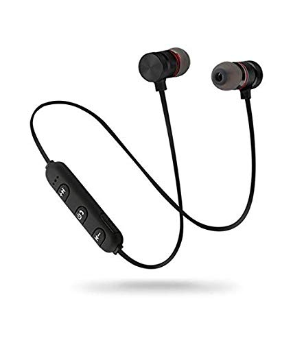 LimeShot S6 Wireless Bluetooth Earphone Headset with Mic for handsfree Calling, Small Lightweight Design with Earphoe Pouch for Redmi, Samsung, iPhone and Other Smartphones
