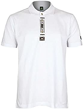 OS Trachten Herren Herren-Trachten-Poloshirt Weiß, 01-Weiß,