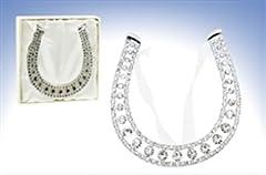 Idea Regalo - Temptations Fine Jewellery - Ferro di cavallo portafortuna con zirconi, per matrimonio