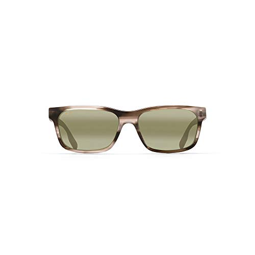 Maui Jim Designer Mens Sunglasses Polarised - Eh Brah 28402 - Gloss Black Wayfarer Frame with Neutral Grey Polarised Lens - Free Shipping, Free Returns, 12 Month Warranty - Size: 55--17--140 - Color: Light Charcoal