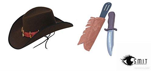 seemeinthat Krokodil Dundee Adventurer Hut Messer Kostüm Explorer Hunter Herren Kostüm