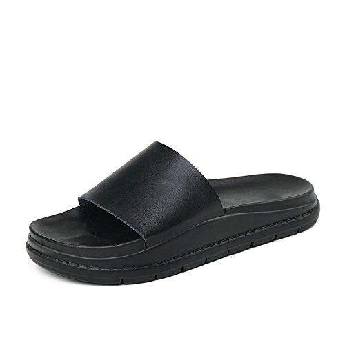 ZPPZZP Ms sandali pantofole estate Wild scanalato studenti spessa flat-bed lounge 38EU
