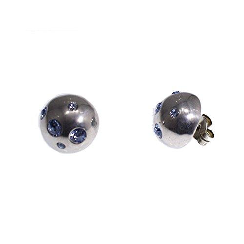 orecchini-di-argento-della-marchio-yves-saint-laurent-con-pietre-blu