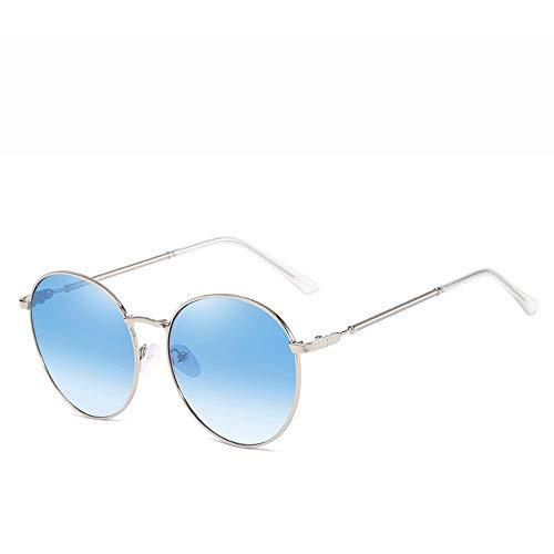 Yiph-Sunglass Sonnenbrillen Mode Polarisierte Sport Aviator Sonnenbrillen für Männer oder Frauen 100% UVA/UVB Objektiv Sonnenbrillen (Farbe : Blau, Größe : Casual Size)