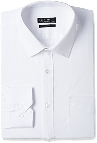 Symbol Men's Regular Fit Cotton Formal Shirt (S17MBS186_48_White)