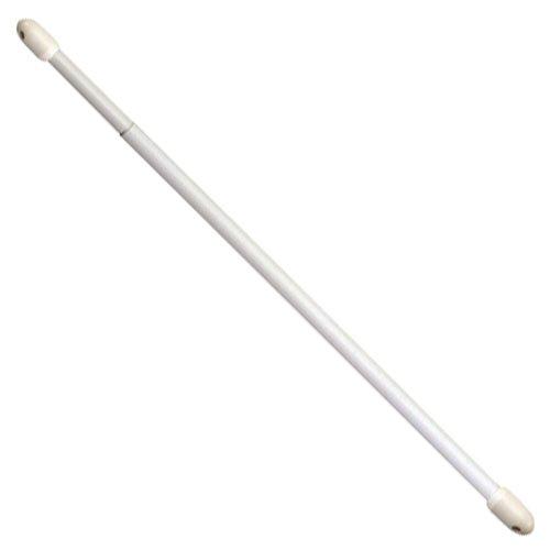 Riel chyc 5431260bastone per tende estensibile, ovale, bianco, 60-80cm, 2pezzi