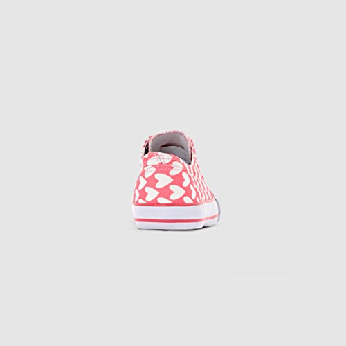 Abcd'r Mdchen Sneakers Fur Kinder Rosa/bedruckten weissen Herzen