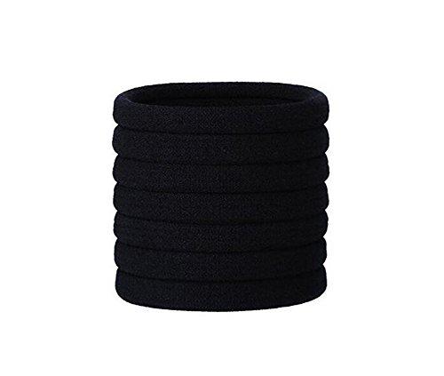 100Stück Large Baumwolle Stretch Haar Bändern Bands Seil Pferdeschwanz Inhaber Haarband Haargummi Haar Zubehör für Dick Schwer und lockiges Haar (Schäden Pferdeschwanz Inhaber)
