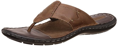 Redtape Men's Brown Leather Sandals and Floaters - 9 UK/India...