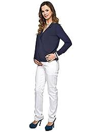 Straight Leg Maternity Trousers - White