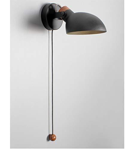 NOHOPE E14 geometrische Wandleuchten/Wandleuchter aus Holz mit Schalter / 180 Grad verstellbares Wandbeleuchtungszubehör/an der Wand befestigte Spiegelleuchte/Schwarz / Weiß/Korridor-Nachttischlampe -