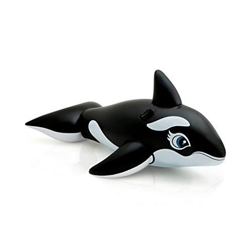 Baiyi apparecchiatura di nuoto del letto di galleggiamento adulto del supporto del bambino della grande balena nera gonfiabile della piscina struttura della camera d'aria di 193 * 119cm doppia