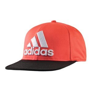 Adidas Originals Flat Brim Fitted Cap Nero/Bianco, rosso (rot),