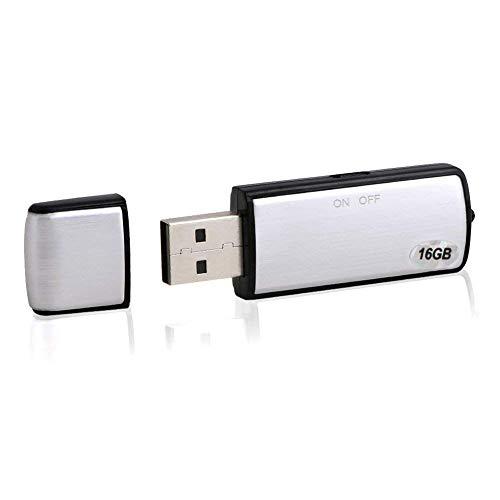 Vicloon USB Voice Recorder Flash Drive 16GB Micro Spy Dictaphone Audio Recorder für Windows7 / 8 / VISTA / 2000 / XP / Windows98 / 98SE / ME