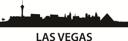 Wandaufkleber, Motiv Skyline Las Vegas Nevada, Vinyl, 40,6 x 132,2 cm, 22 Farben erhältlich