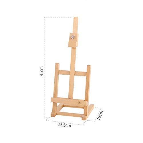 PLLP Wooden Drawing Rack, Staffelei aus Holz Kids Faltbare Skizze Portable Art Small Drawing Stand Desktop Buche Werbung Display Rack,Packung mit 2 Stück -
