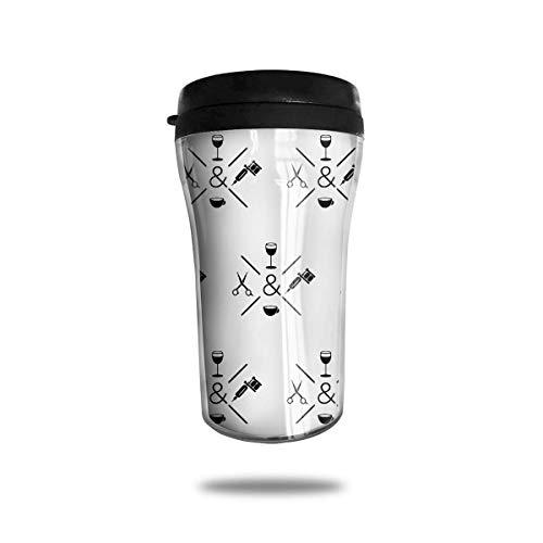 Taza de viaje clásica Peluquero Peluquero Taza de viaje para café, champán, 8 onzas, antideslizante