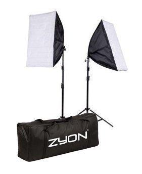 2 x éclairage continu kit 50x70cm softbox studio de photo