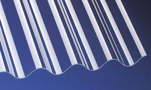 PVC Wellplatten Profilplatten P8 Sinus 130/30 klar ohne Struktur 2500 x 1000 mm