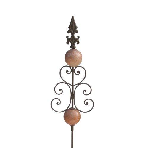 videx-metall-gartenstecker-kugeln-und-zier-ornament-120cm-rost-antik-2