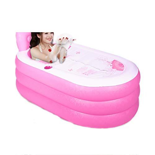 Dampfsauna für zu Hause - tragbare Dampfsauna, zu Hause Luftpumpe Badewanne PVC tragbare Badewanne für Erwachsene Badezimmer Schwimmbad Persönlich-Pink-3