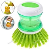 #8: And Retails Hk-Cln-Soap-278-S3 Plastic Cleaning Brush with Liquid Soap Dispenser, Self Dispensing Cleaning Brush
