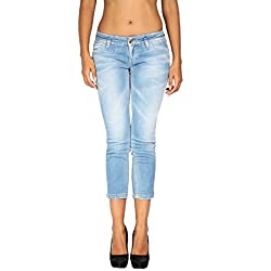 Meltin'Pot - Jeans/Vaquero para Mujer MILENE - Female Fit - Largo 24 - Azul, W32