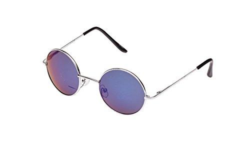 Lennon Style Runde Eye Sonnenbrille, normale Größe, Schwarz