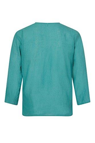 ThaiUK -  Camicia Casual  - Grandad  - Uomo Ocean Blue