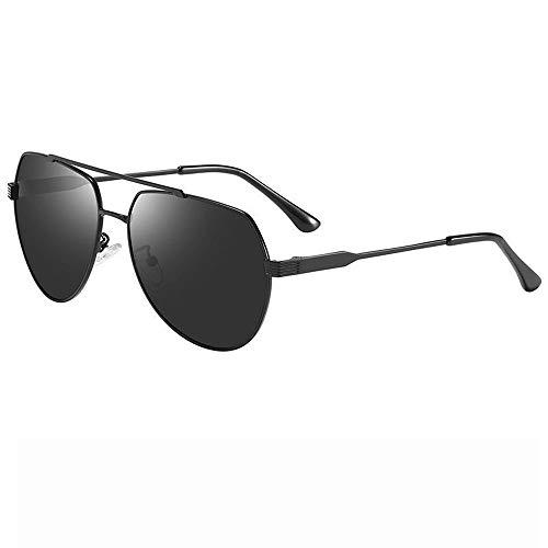 Frauen Metall Aviator Spiegel UV 400 Objektiv Runde Sonnenbrille Für Männer Brille (Farbe : Schwarz, Größe : Casual Size)