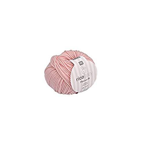 Rico Baby Merino dk 003 - rosa Babywolle aus 100{2619800a03d81307a93dff8078a35a70efceae9f1a90d1e94fce98fa10e73241} Merinowolle extrafine zum Stricken und Häkeln, Merinowolle Babywolle Rico Merino