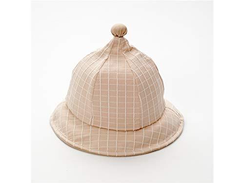 FDBV FC C O VHNFDC VN Babyweich Kreative Baby Plaid Bucket Hat Kleinkind Packable weiche Baumwolle Hut Sonnenschutzkappe für 1-3 Jahre alt (grau) (Farbe : Khaki, Größe : 44-46cm) Packable Bucket