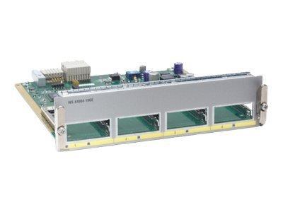 Cisco WS-X4904-10GE= - 4-port wire-speed 10 Gigabit Ethernet (X2) half card - Expansion module - 10 Gigabit LAN - 10GBase-X - 4 ports - for P/N: WS-C4900M -