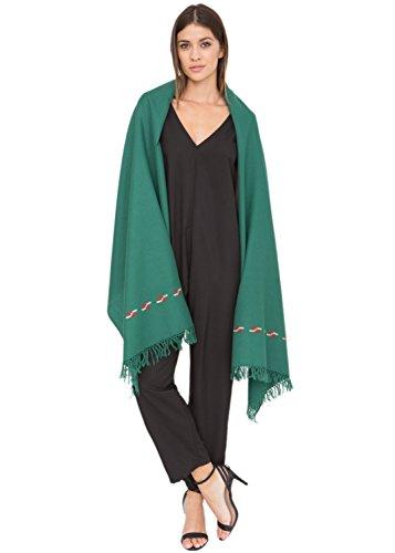 likemary - Châle Femme Vert - Green 72 X 200cm