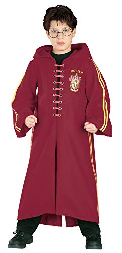 Kostüm Hogwarts Robe - Kostüm Deluxe Harry Potter Quidditch Robe Kind