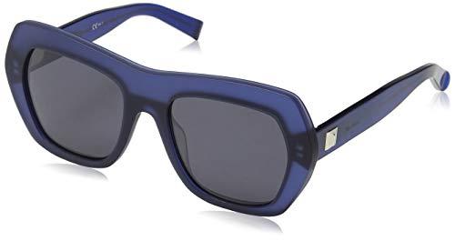 Max mara mm prism iii ir 6gg, occhiali da sole donna, blu (blueemop bluette/grey blue), 54