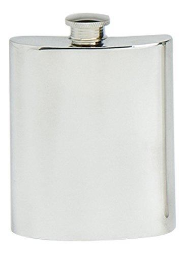 Stylisches Slimline Quadrat Poliert Zinn handcast Flasche Pocket Flachmann verschiedene Größen erhältlich Plain Zinn