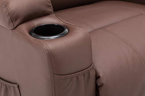 Mcombo Massagesessel Fernsehsessel Relaxsessel Mit Vibrationheizung Braun