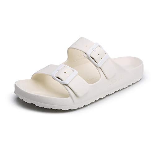 Männer Freizeit Kork Hausschuhe Sandalen magische Schnalle offen zehen flach Paar flip Flops Sommer Strand Schuhe sonnenbad im freien entspannende Wasserschuhe (Chaco Flip Flops Männer)