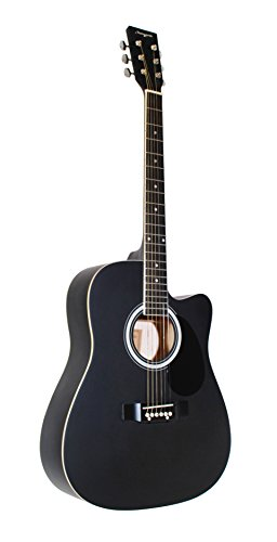 Martin Smith W-600-C-BK-MT guitarra acústica con Cutaway - Negro Mate