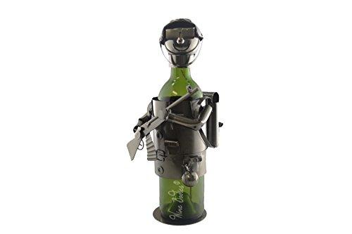 Wein Bodies zb1260Armee stabile Weinflaschenhalter aus Metall, anthrazit