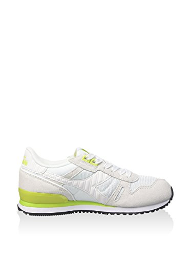 Diadora N9000 Mm Bright, Pompes à plateforme plate mixte adulte Blanc Cassé - Blanco - white/acid green