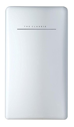 bkitchen cool 120 ws Retro Kühlschrank, 120L, A++, weiss Kühlgerät Standgerät, Gemüsefach + 1Stern Eisfach