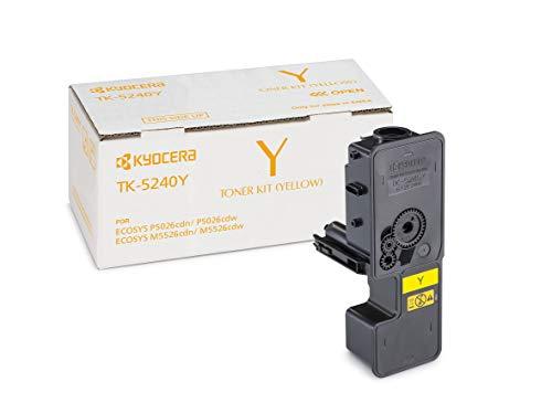 Kyocera TK-5240Y Original Toner-Kartusche Gelb 1T02R7ANL0. Für ECOSYS M5526cdn, ECOSYS M5526cdw, ECOSYS P5026cdn, ECOSYS P5026cdw. Amazon Dash Replenishment-Kompatibel