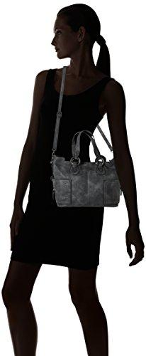 Sansibar Damen Shopper Bag Henkeltasche, 16 x 29 x 36 cm Grau (Dim Grey)