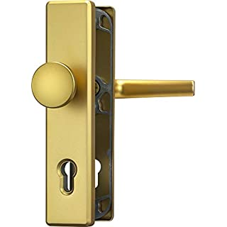 Abus HLN414 Tür Schutzbeschlag, 92 mm, Vierkantstift: 10 mm, Farbe F3 (messing)
